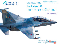 Yak-130 - 3D-Printed & coloured Interior advanced skill (for Zvezda kits)