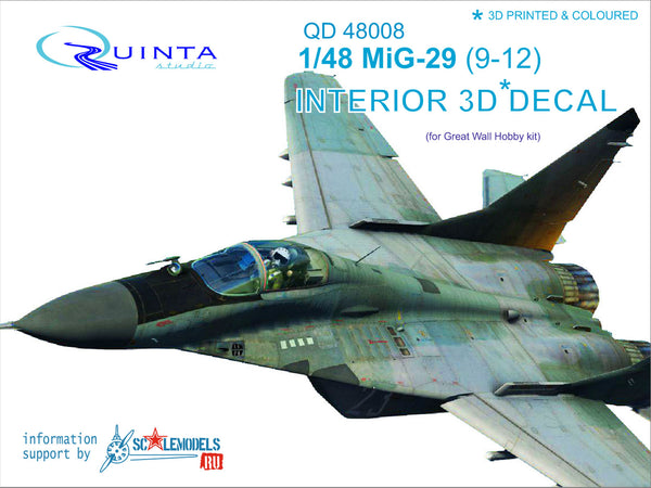MiG-29 (9-12) - 3D-Printed & coloured Interior (for GWH kits)
