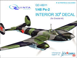 Pe-2 - 3D-Printed & coloured Interior (for Zvezda kits)