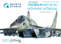 MiG-29 SMT (9-19) - 3D-Printed & coloured Interior (for GWH kits)