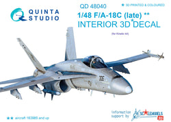 F/A-18С (late) 3D-Printed & coloured Interior on decal paper (for Kinetic)