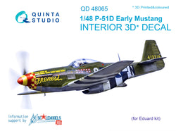 P-51D (Early) 3D-Printed & coloured Interior on decal paper (for Eduard kit)