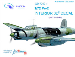 Pe-2 - 3D-Printed & coloured interior (for 7283 Zvezda kit)