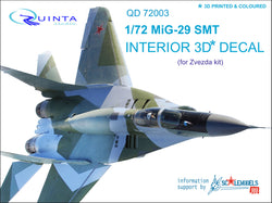 MiG-29 SMT - 3D-Printed & coloured Interior (for 7309 Zvezda kit)