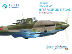 IL-2 Shturmovik 3D-Printed & coloured Interior on decal paper (for Tamiya kit)