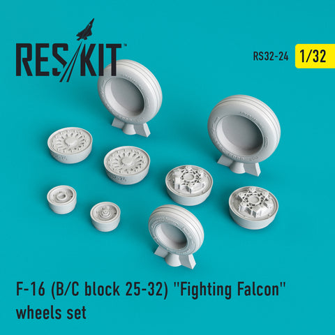 "F-16 (B/C) block 25-32 ""Fighting Falcon"" Wheels Set"