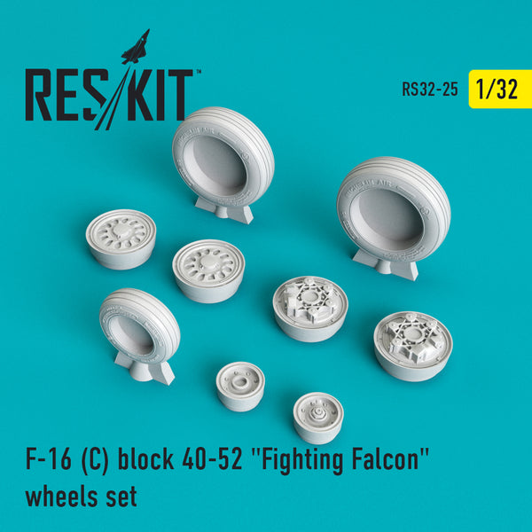 "F-16 (C) block 40-52 ""Fighting Falcon"" Wheels Set"