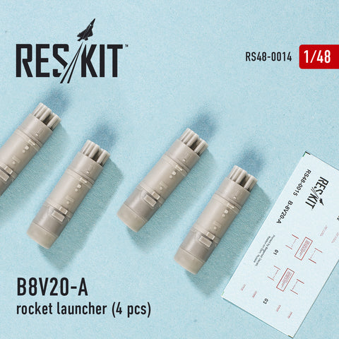 B8V20-A  rocket launcher (4 pcs) (Mi-8/17/24/28 Ka-29/32/50/52)
