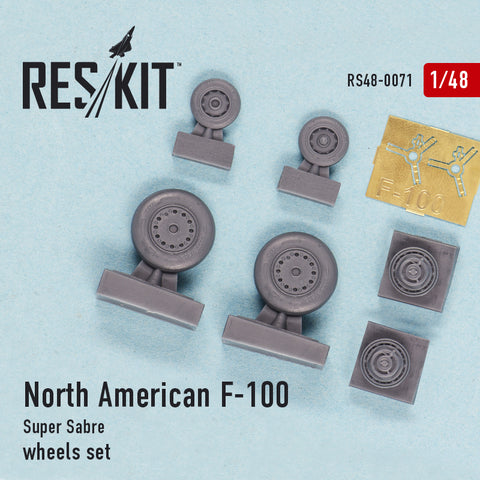 North American F-100 Super Sabre Wheels Set