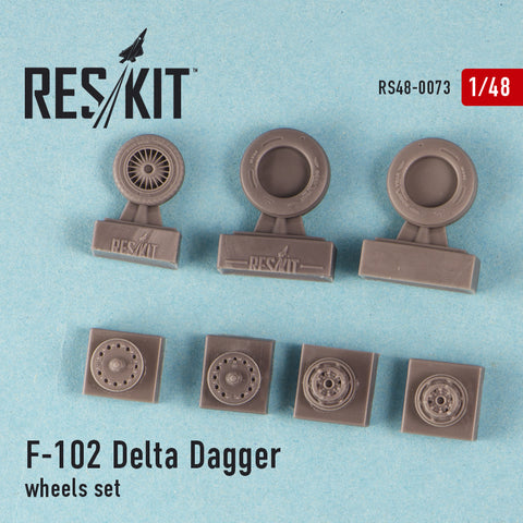 Convair F-102 Delta Dagger Wheels Set