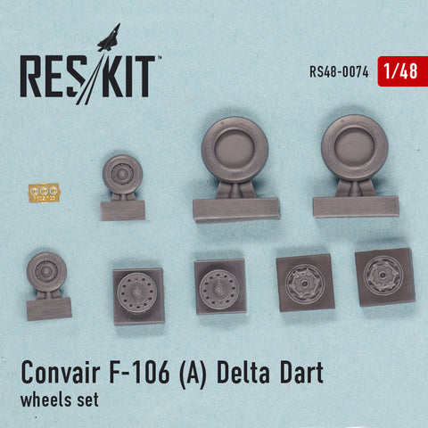 Convair F-106 (А) Delta Dart Wheels Set