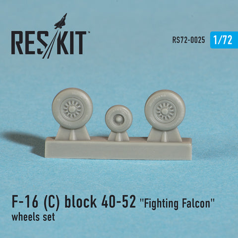"General Dynamics F-16 (C) block 40-52 ""Fighting Falcon"" Wheels Set"