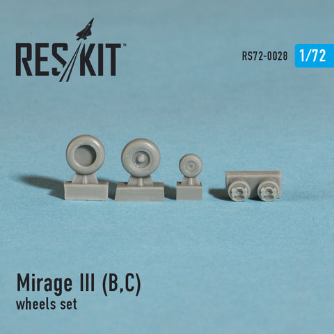 Dassault Mirage III (B,C) Wheels Set