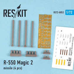 R-550 Magic-2 missile (4 pcs) for Mirage f.1, Mirage 2000, Mirage III, Rafale, Super Etendard