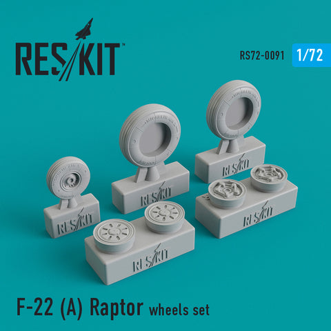 F-22A Raptor Wheels Set