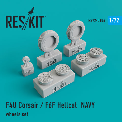 F4U Corsair / F6F Hellcat NAVY Wheels Set