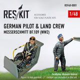 German Pilot & Land Crew (WW2)