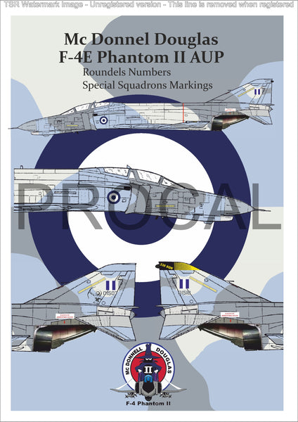 F-4E AUP Roundels and Numbers