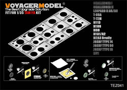 1/35 Modern AFV Road Wheels Stenciling template ver 1