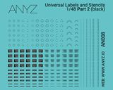 Universal Labels and Stencils Part 2 (black)