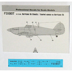 Decals Stencils for Hawker Hurricane