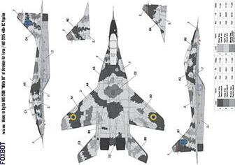 Digital camouflage masks for Ukrainian MiG-29UB