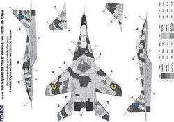 Digital Masks for MiG-29UB, Ukranian Air Forces, Digital camouflage