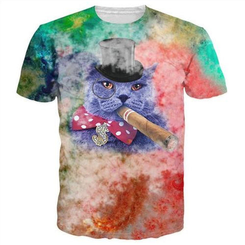 Galaxy Pizza Cigar Cat
