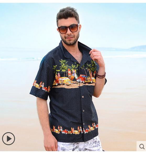 Breasted Beach Hawaiian Shirt