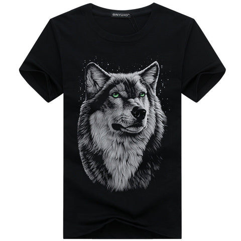 Wolf 3D Printed T Shirt