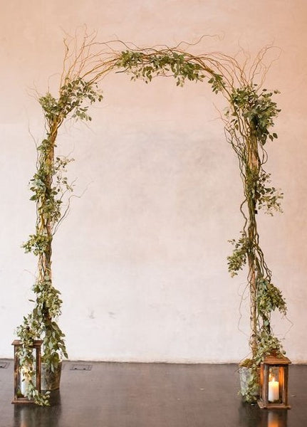 Birch Pole & Curly Willow Wedding Arch  Instructions