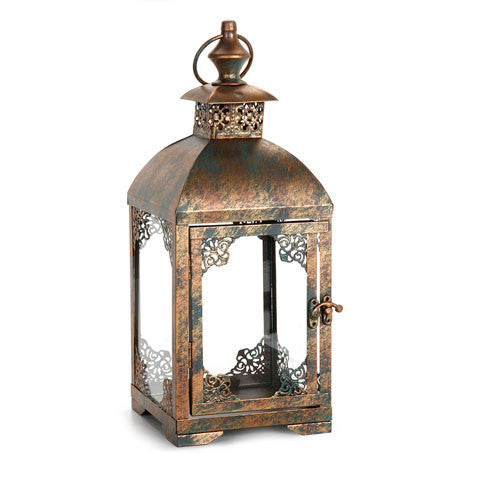 Ornate Bronze no glass Metal Lantern