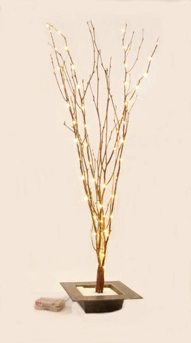 LED Lighted Natural Birch Branches with 8 Function Remote