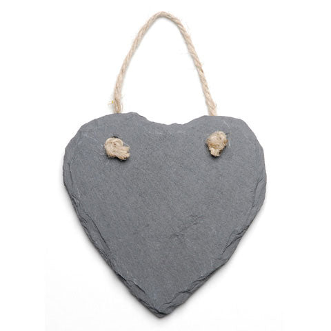 Hanging Slate Heart * Buy one Get one 50% off