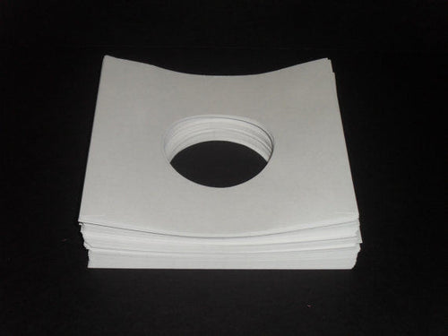 25 Brand New Record Sleeves White Paper Inner Sleeves for 45 RPM Records