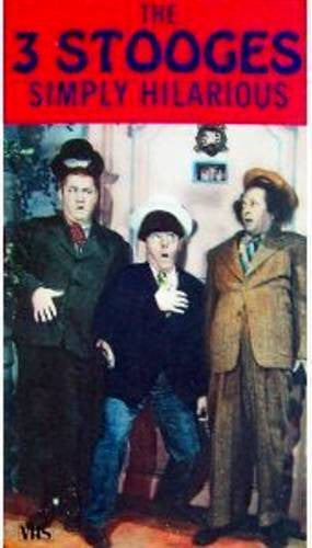 3 STOOGES SIMPLY HILARIOUS VHS TAPE/MOVIE