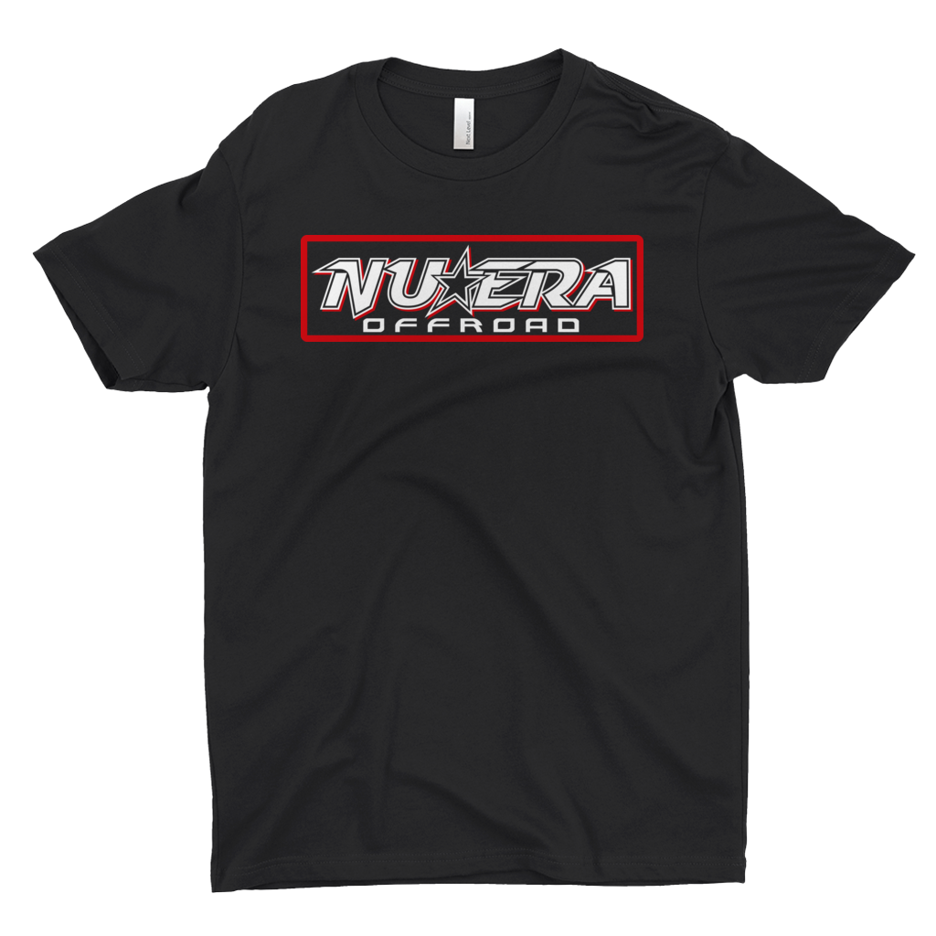 Nu Era T-Shirt White and Red on Black Tee