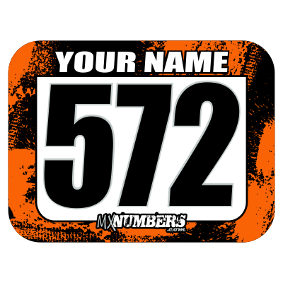 Race Numbers with Name -Splash O'Color Design- - MxNumbers