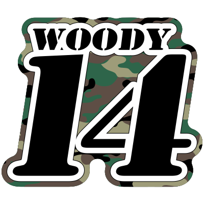 Race Number with Name -Printed with Camo & Laminated- - MxNumbers