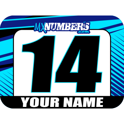 Race Numbers with Name - Clean Lines Design - MxNumbers