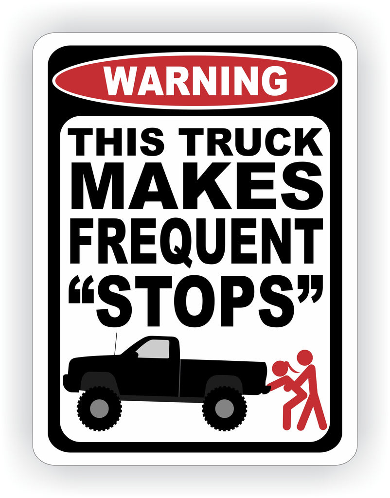 Truck Makes Frequent Stops Warning Decal - MxNumbers