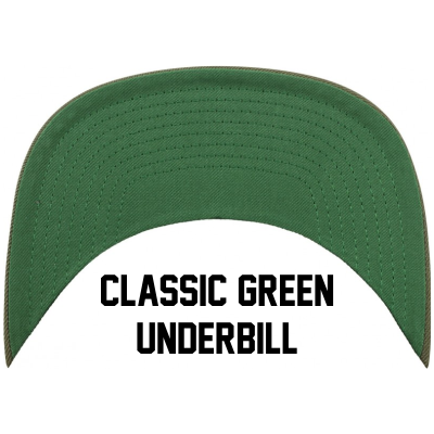 MxNumbers Snapback Hat with Green Undervisor- Black with White Arrow Logo - MxNumbers