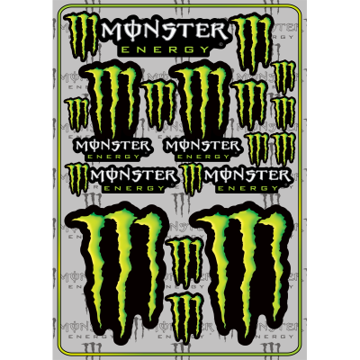 Monster Energy Decals Large Pack - MxNumbers