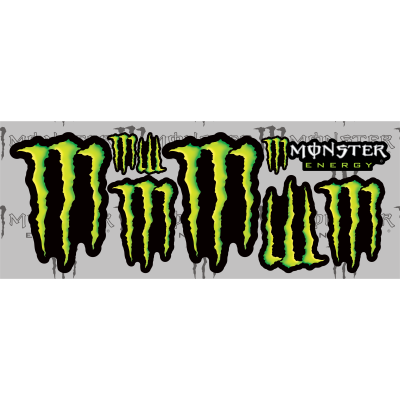 Monster Energy Decals Small Pack - MxNumbers