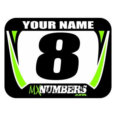 Race Numbers with Name -Factory Design - MxNumbers
