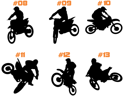 MX Silhouette Decal -14 Different Options- - MxNumbers