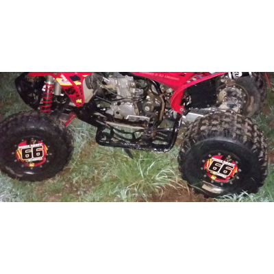 Pair of Mud Plug Decals for Hyper Tech Wheel -Splash O' Color Design - MxNumbers