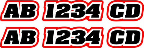 Watercraft Registration Number Decals - MxNumbers