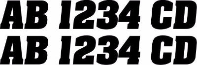 Personal Watercraft Registration Decals - MxNumbers