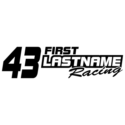 Custom Your Text & Number Racing Graphics in Single Color - MxNumbers